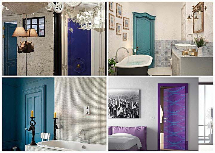 Цветные двери - яркие детали интерьера