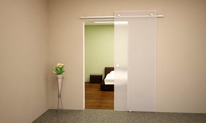 Подвесная дверь в интерьере