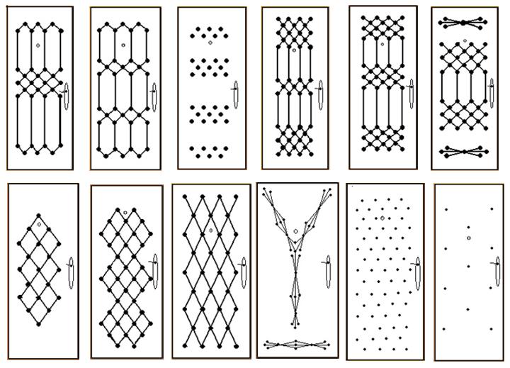Примеры узоров для декорирования двери